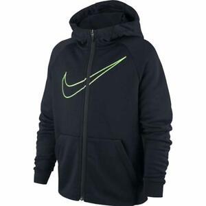 Détails sur Nike Dry broderie Zip Complet Enfants Sweat à capuche garçon 939853 010 afficher le titre d'origine