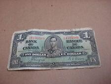 1937 - Canadian $1 bill - one dollar note - NN4103589