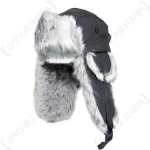La imagen se está cargando Sombrero-De-Piel-Sintetica-y-Cuero-Negro -Invierno- c4da9b473d1