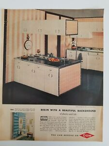 Image Is Loading 1957 Retro Pink Kitchen Cabinets Dal Styron