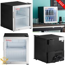 Countertop Display Refrigerated Merchandiser Swing Glass Door 18 Cu Ft Black