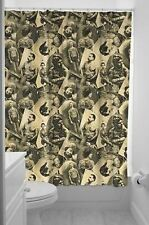 Sourpuss Old Timers Tattooed Model Bath Punk Goth Pinup Tattoo Shower Curtain