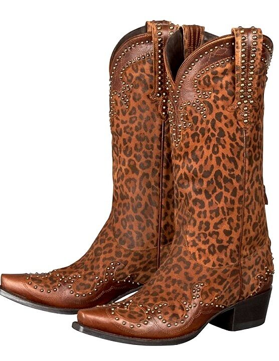 NEW, DOUBLE D RANCH / LANE CHEETAH CHIC COWBOY BOOTS, WESTERN, COWGIRL