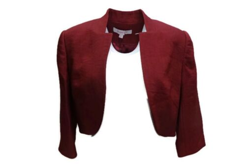 Crop bordeaux 12 Bolero Split Cuffs Jacket Vert Jacques Rosso Taglia tq04wz