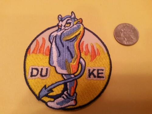 """DU Duke Bluedevils Vintage Embroidered Iron On Patch 3/"""" x 3/"""" NCAA CHAMPS 2015"""