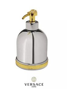 Versace-Classic-Medusa-Chrome-and-Gold-Soap-Dispenser-New-Authentic-68101060
