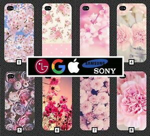 Pink-Floral-Phone-Case-Cover-Flower-Google-Pixel-2-Note-8-a3-iPhone-X-8-LG-358