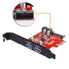 Inateck Internal Mini PCI-E to USB Hub 3.0 2-Port PCI Express Card Adapter SATA