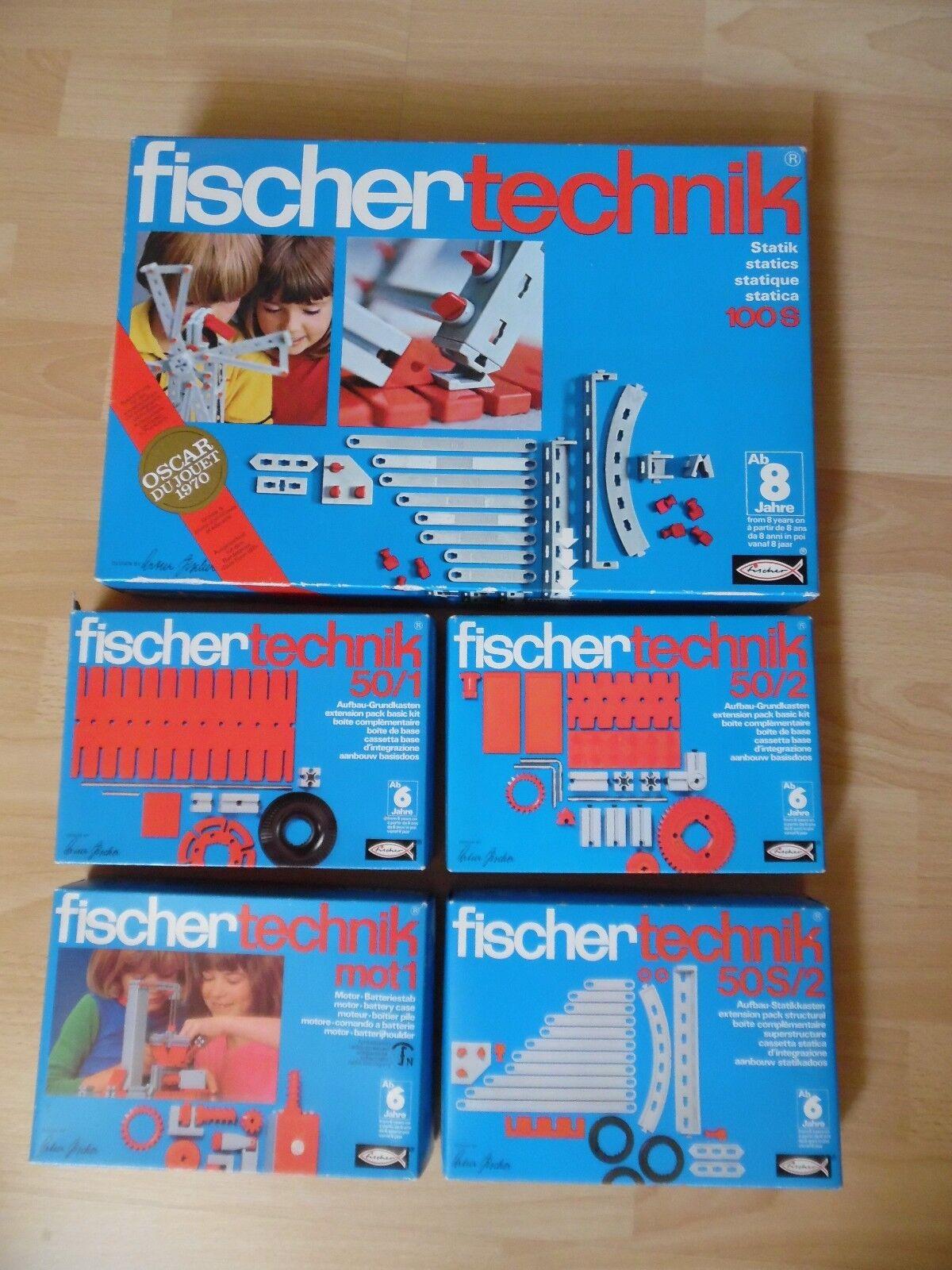 5 x Fischer Technik (100S, mot1, 50 1, 50 2, 50S 2)