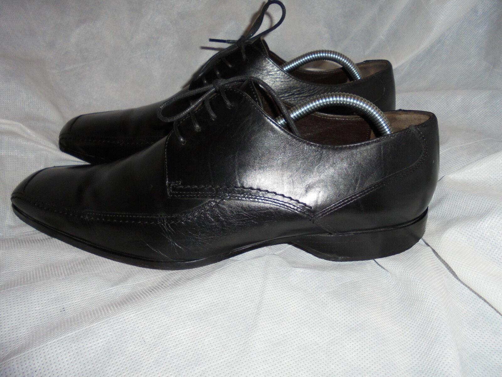LOAKE para hombre Negro Cuero Con Cordones Zapatos Talla Uk 10 EU 44 en muy buena condición