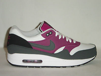 Details about Original Mens Nike Air Max 1 Essential White Purple Grey Trainers 537383105