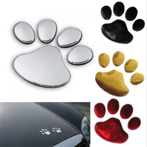 2pcs 3D Dog Paw Footprint Car Sticker Decal Footprint Sticker Motorcycle Decor H