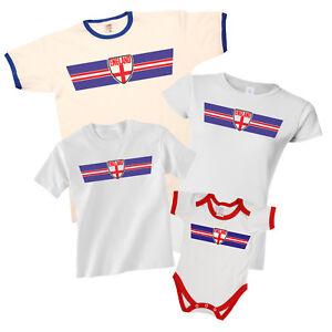 ENGLAND World CUP 2018 Retro Strip T-Shirt Football MENS LADIES KIDS ... 19d58699dc