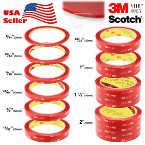 35-Feet-Genuine-3M-VHB-4905-Double-Sided-Mounting-Acrylic-Foam-Tape-Adhesive