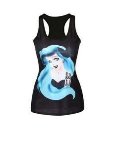 Details Zu Tank Top Arielle Mit Blauen Haaren Tattoo Xs S M Mermaid Meerjungfrau 34 38