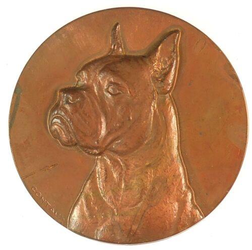 Dog award FRENCH BOXER bronze 50mm