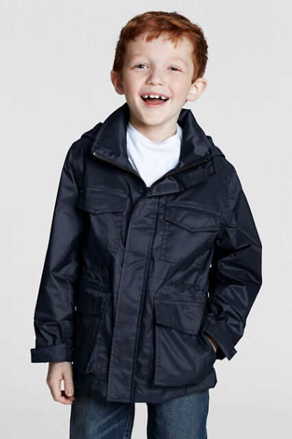 Little Boys' Navigator Fleece-lined Rain Jacket/Anorak  by Lands' End age 4 Navy