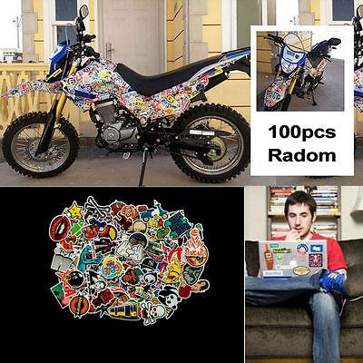 100pcs/lot Sticker Bomb Graffiti Vinyl Car Skate Skateboard Laptop Luggage Decal