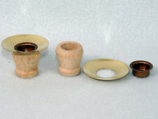 25 Stück Kerzentülle,Lichtertülle,Holztülle+ Messing-Tropfenfänger+Tülle Bastler