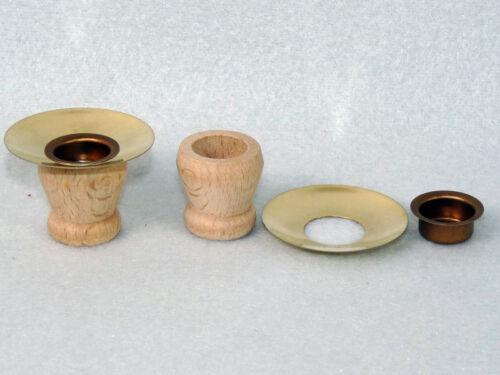 25 Stück Kerzentülle,Lichtertülle,Holztülle+Messing-Tropfenfänger+Tülle Bastler3