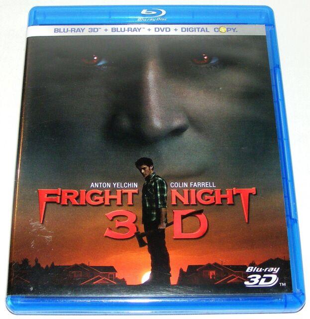 FRIGHT NIGHT 3D ---- (Blu-Ray 3 Disc Set)