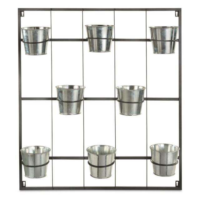 Metal Hanging Wall Planter Indoor Display Decoration Herb Garden Container Black For Sale Online Ebay