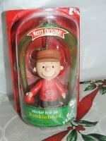 Peanuts Charlie Brown Holiday Clip-on Bobblehead Christmas Ornament 2013