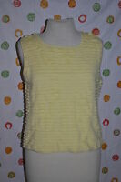 Carlisle Womens Size Xl Yellow Waves Shell Top Spring Summer Blouse $240