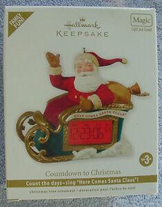 2012-HALLMARK-ORNAMENT-COUNTDOWN-TO-CHRISTMAS-SANTA-ON-SLEIGH-MAGIC-LIGHT-SOUND