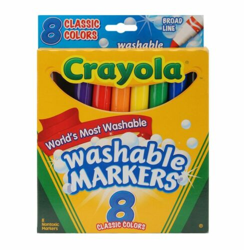 Crayola Washable Markers Pack of 9 Classic Colors 8 ea