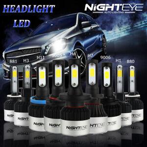 Nighteye-H1-H3-H4-H7-H11-9005-9006-LED-Autoscheinwerfer-72W-9000LM-Birnen-Lampen