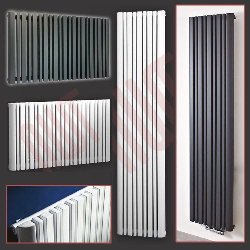 ProssoEUS  BIANCO & Antracite Designer verdeICALE & ORIZZONTALE radiatori in sezione