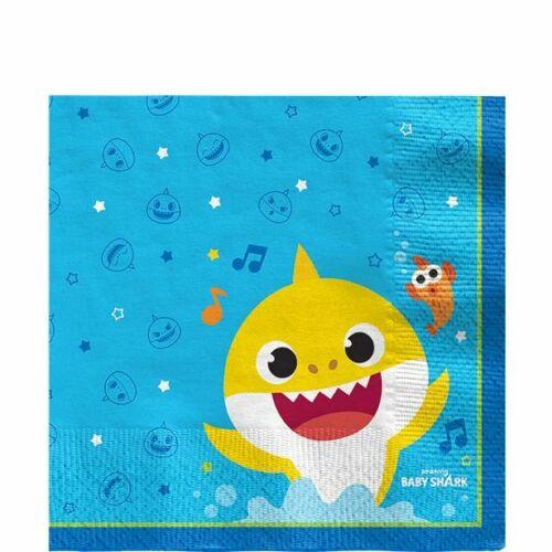 Baby Shark Party Napkins Cups Tablecover Plates Foil Balloon Banner Giftbag