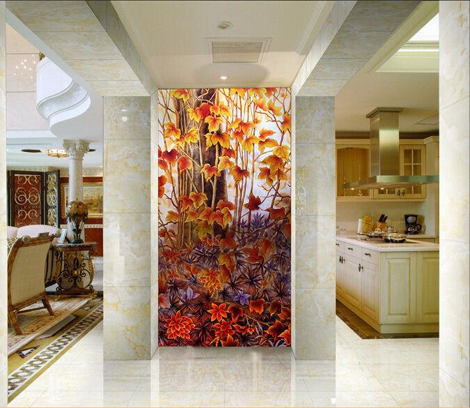 3D Fiori Campo 5 Parete Murale FotoCarta da parati immagine sfondo muro stampa