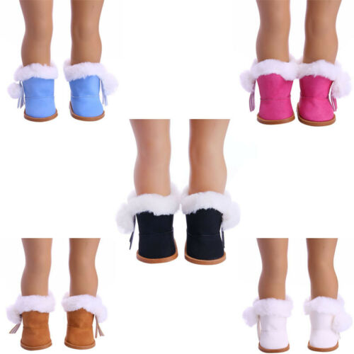 """Hot Handmade Boots Shoes Fits 18/"""" Inch American Girl Doll Fashion Cotton Shoes"""