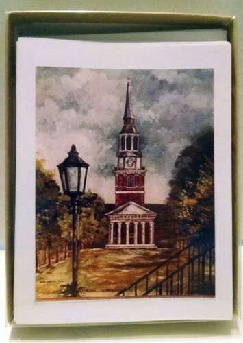 Wake Forest University Chapel Cards Set 10 Mary Ellen Hicks Vintage Greeting
