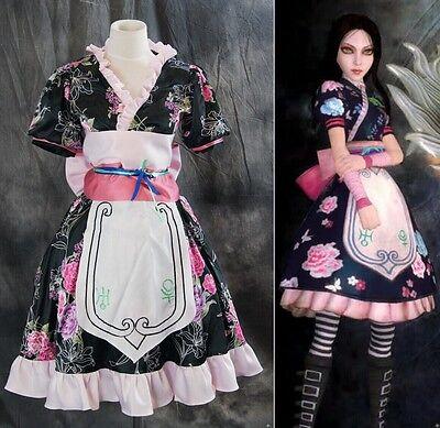 H-018 Alice Madness Returns Flower Kimono Cosplay Kostüm costume Kleid dress