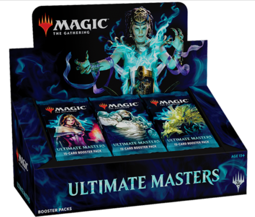 CASE Ultimate Masters MTG Booster Box (4) with Box Toppers FACTORY SEALED