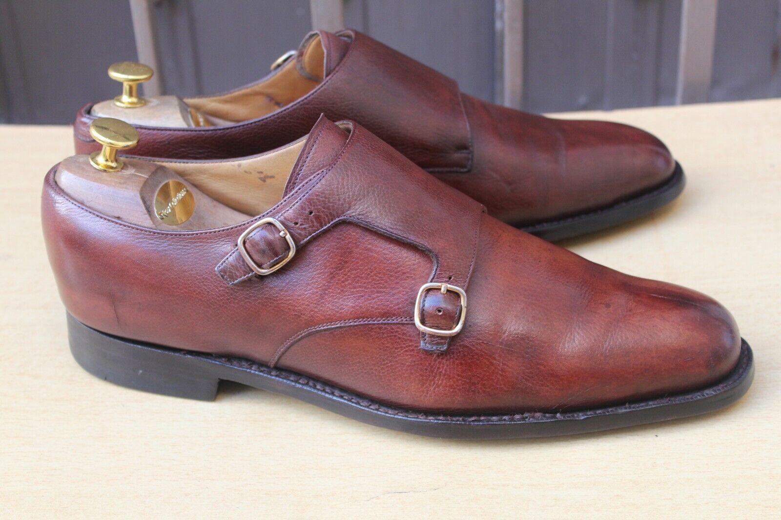 CHAUSSURE CHURCH'S DOUBLE BOUCLES CUIR GRAINE  11 F 45 SUPER ETAT hombres zapatos