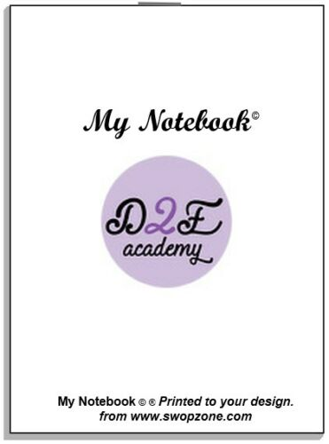 """/""""My Notebook/"""" Your Own Design 35p Promo /& Thank you Gift Memo notes games et."""