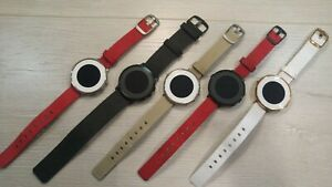 Pebble-Time-Round-Very-Good-Condition-14mm-20mm-Strap-Worldwide-Shipping