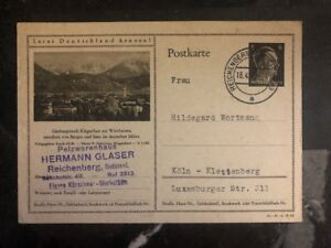 1942-Reichenberg-Germany-Postal-Stationary-Cover-To-Luxembourg