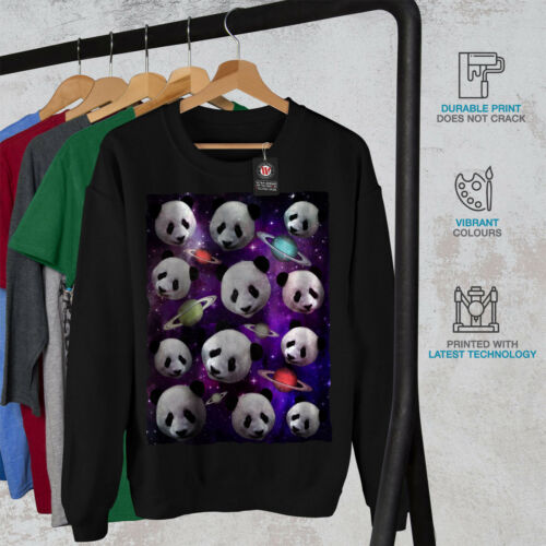 da Felpa Animal Face uomo New Space Black Panda 8HrdRnH6q