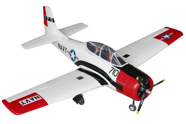 Dynam T28 Trojan Artf 1270mm, Rojo, se retrae no tx rx bat-magnífico Escala Flyer