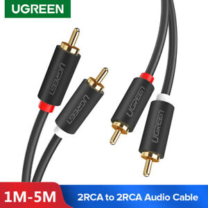 Ugreen-Audio-Cable-RCA-Audio-Stereo-Jack-2RCA-Male-vers-2-RCA-Male-pour-PS3-HDTV