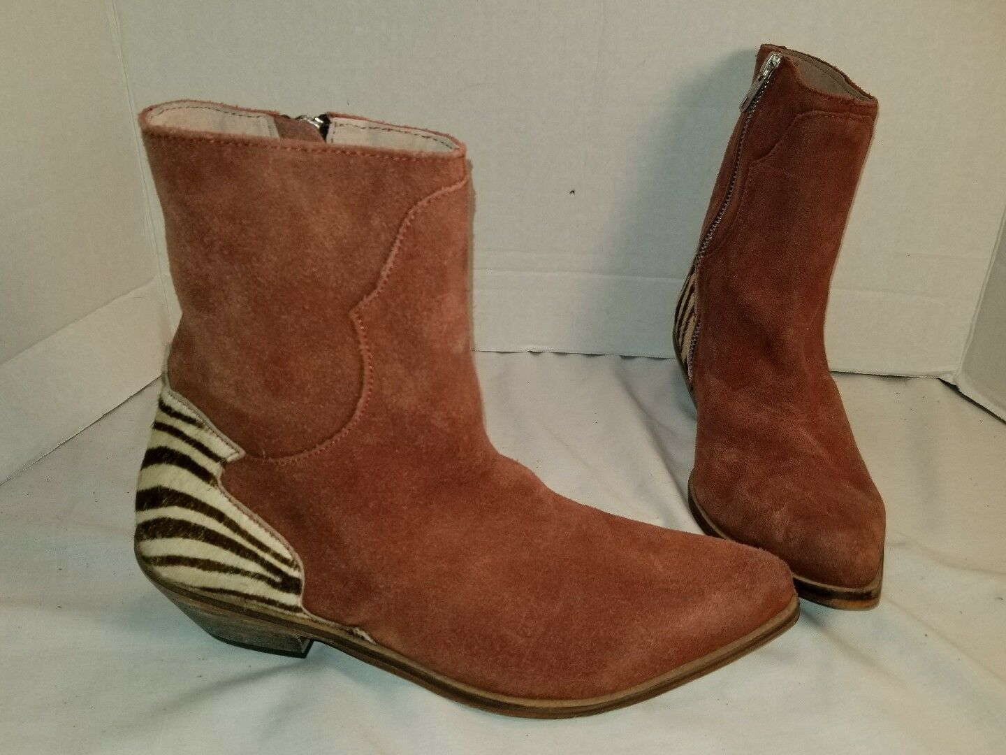 ANTHROPOLOGIE FREE PEOPLE LAST OUTLAW RUST SUEDE ANKLE BOOTS US 6