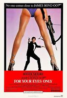 James Bond: For Your Eyes Only Roger Moore Usa Movie Poster 1981