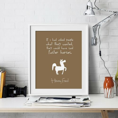 Henry Ford Inspirational Wall Art Print Motivational Quote Poster Decor Gift him