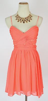 NWT HAILEY LOGAN $85 Coral Prom Cocktail Party Dress 9