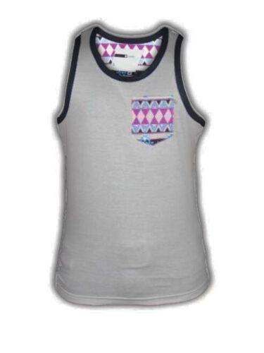 New Men/'s Designer D Code /'1v2309/' Aztec Pocket Contrast Gym Muscle Vest Top